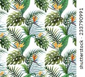 flora  watercolor  pattern | Shutterstock .eps vector #233790991