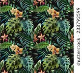 orchid  tropical  pattern | Shutterstock .eps vector #233792599