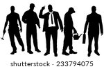 vector silhouettes of different ... | Shutterstock .eps vector #233794075