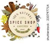 spice shop paper emblem with...   Shutterstock .eps vector #233797714