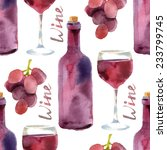 bright watercolor wine seamless ...