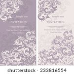 set of antique greeting cards ... | Shutterstock .eps vector #233816554
