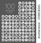 set of 100 universal rounded... | Shutterstock .eps vector #233818261