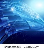 digital technology background.... | Shutterstock . vector #233820694