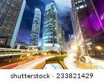 traffic in hong kong at night | Shutterstock . vector #233821429