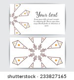 round vector ornament. circle... | Shutterstock .eps vector #233827165