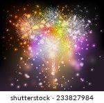 holiday fireworks background | Shutterstock .eps vector #233827984