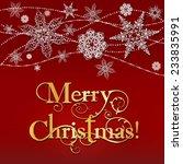 merry christmas elegant lacy... | Shutterstock .eps vector #233835991