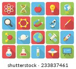 science  modern flat icons with ... | Shutterstock .eps vector #233837461