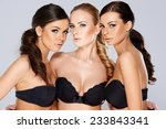 close up three gorgeous young... | Shutterstock . vector #233843341