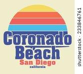 San Diego Beach Typography  T...