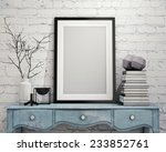 mock up poster frame with on... | Shutterstock . vector #233852761