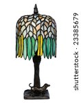 Stained Glass Lamp Isolated On...