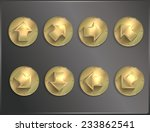 metal round icons steampunk ... | Shutterstock .eps vector #233862541