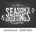 season's greetings vintage hand ... | Shutterstock .eps vector #233875501