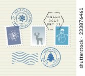 Christmas And New Year Postage...