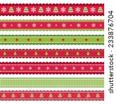 red green christmas ribbon set | Shutterstock .eps vector #233876704