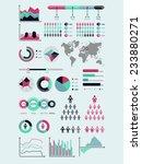 world map infographic. vector... | Shutterstock .eps vector #233880271