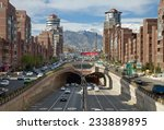 tehran   apr 1  cars passing... | Shutterstock . vector #233889895