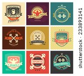 set of various sports and... | Shutterstock .eps vector #233893141