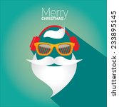Merry Christmas Hipster Poster...