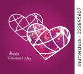 watercolor painted paper heart  ... | Shutterstock .eps vector #233895607