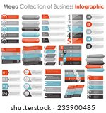 collection of infographic... | Shutterstock .eps vector #233900485
