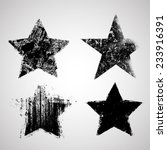 vector grunge stars collection .... | Shutterstock .eps vector #233916391