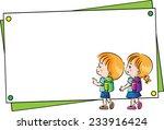 Kids With Blank Border Frame
