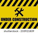 under construction background | Shutterstock .eps vector #233921839