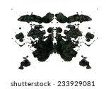 rorschach inkblot test... | Shutterstock . vector #233929081