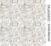 seamless monochrome vector... | Shutterstock .eps vector #233929765