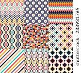 seamless retro geometric pattern | Shutterstock .eps vector #233931769