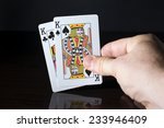 playing cards  a pair held in a ... | Shutterstock . vector #233946409