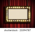 a grungy sign with marquee... | Shutterstock . vector #23394787