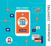 mobile payment online shopping... | Shutterstock .eps vector #233947981