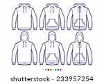 clothing pictograms  one color... | Shutterstock .eps vector #233957254