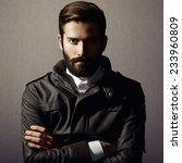 portrait of handsome man with... | Shutterstock . vector #233960809