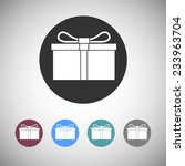 gift box flat icons. silhouette ...