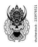 elephant demon with a crown... | Shutterstock .eps vector #233978521