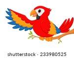 happy macaw bird cartoon  | Shutterstock . vector #233980525