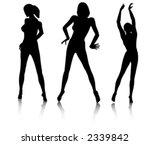 nude woman silhouette | Shutterstock .eps vector #2339842