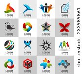 logo and abstract web icon and... | Shutterstock .eps vector #233989861