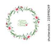vector watercolor flowers... | Shutterstock .eps vector #233998249