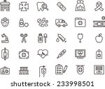 medical   hospital icon set | Shutterstock .eps vector #233998501
