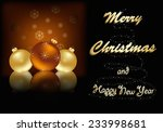 merry christmas greeting card... | Shutterstock .eps vector #233998681