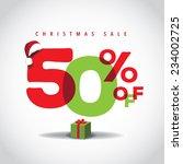 christmas sale big bright... | Shutterstock .eps vector #234002725