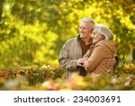 portrait of  mature couple in... | Shutterstock . vector #234003691