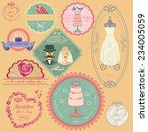 set of vintage wedding and...   Shutterstock .eps vector #234005059