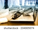 business accounting  | Shutterstock . vector #234005074
